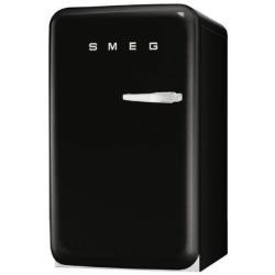 Réfrigérateur Smeg '50 FAB10LNE - Réfrigérateur avec compartiment freezer - pose libre - largeur : 54.3 cm - profondeur : 63.2 cm - hauteur : 96 cm - 120 litres - classe A+ - noir