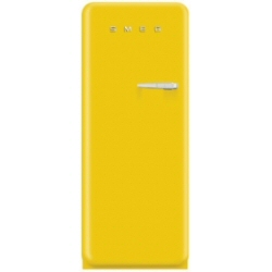 Réfrigérateur Smeg '50 FAB28LG1 - Réfrigérateur avec compartiment freezer - pose libre - largeur : 60 cm - profondeur : 73.2 cm - hauteur : 151 cm - 248 litres - Classe A++ - jaune