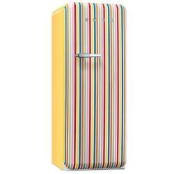 Réfrigérateur Smeg '50 FAB28RCS1 - Réfrigérateur avec compartiment freezer - pose libre - largeur : 60 cm - profondeur : 73.2 cm - hauteur : 151 cm - 248 litres - Classe A++ - Rayures multicolores