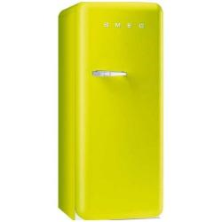 Réfrigérateur Smeg '50 FAB28RVE1 - Réfrigérateur avec compartiment freezer - pose libre - largeur : 60 cm - profondeur : 73.2 cm - hauteur : 151 cm - 248 litres - Classe A++ - citron vert
