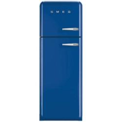 Réfrigérateur Smeg '50 FAB30LBL1 - Réfrigérateur/congélateur - pose libre - largeur : 60 cm - profondeur : 54.2 cm - hauteur : 168.8 cm - 293 litres - congélateur haut - Classe A++ - bleu