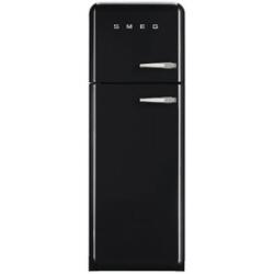 Réfrigérateur Smeg '50 FAB30LNE1 - Réfrigérateur/congélateur - pose libre - largeur : 60 cm - profondeur : 54.2 cm - hauteur : 168.8 cm - 293 litres - congélateur haut - Classe A++ - noir