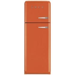 Réfrigérateur Smeg '50 FAB30LO1 - Réfrigérateur/congélateur - pose libre - largeur : 60 cm - profondeur : 54.2 cm - hauteur : 168.8 cm - 293 litres - congélateur haut - Classe A++ - orange