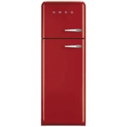Réfrigérateur Smeg '50 FAB30LR1 - Réfrigérateur/congélateur - pose libre - largeur : 60 cm - profondeur : 54.2 cm - hauteur : 168.8 cm - 293 litres - congélateur haut - Classe A++ - rouge