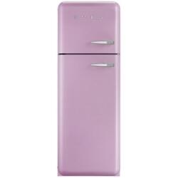 Réfrigérateur Smeg '50 FAB30LRO1 - Réfrigérateur/congélateur - pose libre - largeur : 60 cm - profondeur : 54.2 cm - hauteur : 168.8 cm - 293 litres - congélateur haut - Classe A++ - rose