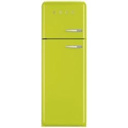 Réfrigérateur Smeg '50 FAB30LVE1 - Réfrigérateur/congélateur - pose libre - largeur : 60 cm - profondeur : 54.2 cm - hauteur : 168.8 cm - 293 litres - congélateur haut - Classe A++ - citron vert