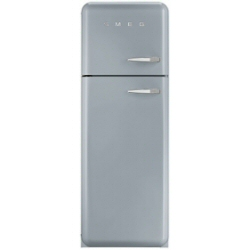 Réfrigérateur Smeg '50 FAB30LX1 - Réfrigérateur/congélateur - pose libre - largeur : 60 cm - profondeur : 54.2 cm - hauteur : 168.8 cm - 293 litres - congélateur haut - Classe A++ - métal gris