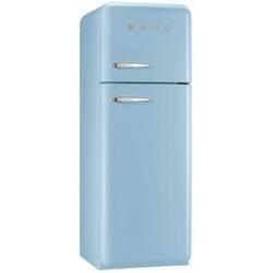 Réfrigérateur Smeg '50 FAB30RAZ1 - Réfrigérateur/congélateur - pose libre - largeur : 60 cm - profondeur : 54.2 cm - hauteur : 168.8 cm - 293 litres - congélateur haut - Classe A++ - bleu pastel