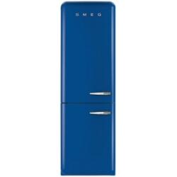 Réfrigérateur Smeg '50 FAB32LBLN1 - Réfrigérateur/congélateur - pose libre - largeur : 60 cm - profondeur : 72 cm - hauteur : 192 cm - 304 litres - congélateur bas - Classe A++ - bleu