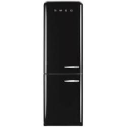 Réfrigérateur Smeg '50 FAB32LNEN1 - Réfrigérateur/congélateur - pose libre - largeur : 60 cm - profondeur : 54.2 cm - hauteur : 192.6 cm - 304 litres - congélateur bas - Classe A++ - noir