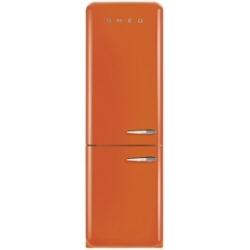 Réfrigérateur Smeg '50 FAB32LON1 - Réfrigérateur/congélateur - pose libre - largeur : 60 cm - profondeur : 54.2 cm - hauteur : 192.6 cm - 304 litres - congélateur bas - Classe A++ - orange
