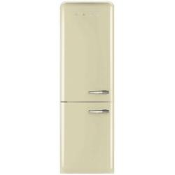 Réfrigérateur Smeg '50 FAB32LP1 - Réfrigérateur/congélateur - pose libre - largeur : 60 cm - profondeur : 72 cm - hauteur : 192.6 cm - 304 litres - congélateur bas - Classe A++ - crème