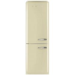 Réfrigérateur Smeg '50 FAB32LPN1 - Réfrigérateur/congélateur - pose libre - largeur : 60 cm - profondeur : 54.2 cm - hauteur : 192.6 cm - 304 litres - congélateur bas - Classe A++ - crème