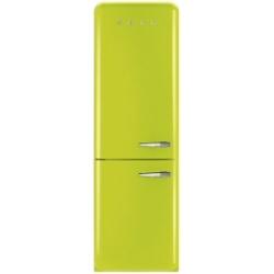 Réfrigérateur Smeg '50 FAB32LVEN1 - Réfrigérateur/congélateur - pose libre - largeur : 60 cm - profondeur : 54.2 cm - hauteur : 192.6 cm - 304 litres - congélateur bas - Classe A++ - vert pomme