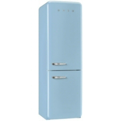 Réfrigérateur Smeg '50 FAB32RAZN1 - Réfrigérateur/congélateur - pose libre - largeur : 60 cm - profondeur : 54.2 cm - hauteur : 192.6 cm - 304 litres - congélateur bas - Classe A++ - bleu pastel
