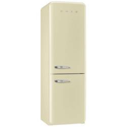Réfrigérateur Smeg '50 FAB32RP1 - Réfrigérateur/congélateur - pose libre - largeur : 60 cm - profondeur : 54.2 cm - hauteur : 192.6 cm - 321 litres - congélateur bas - Classe A++ - crème