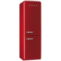 Réfrigérateur Smeg '50 FAB32RRN1 - Réfrigérateur/congélateur - pose libre - largeur : 60 cm - profondeur : 72 cm - hauteur : 192.6 cm - 304 litres - congélateur bas - Classe A++ - rouge