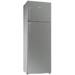 Réfrigérateur Smeg FD32APS1 - Réfrigérateur/congélateur - pose libre - largeur : 60 cm - profondeur : 60 cm - hauteur : 175 cm - 306 litres - congélateur haut - classe A+ - argenté(e)