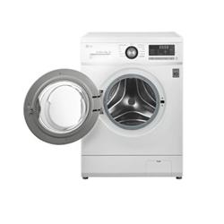 Lave-linge LG FH296TDA3 - Machine à laver - pose libre - largeur : 60 cm - profondeur : 55 cm - hauteur : 85 cm - chargement frontal - 58 litres - 8 kg - 1200 tours/min