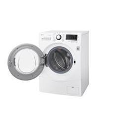 Lave-linge LG FH4A8FDH2N - Machine à laver séchante - pose libre - largeur : 60 cm - profondeur : 65 cm - hauteur : 85 cm - chargement frontal - 67 litres - 9 kg - 1400 tours/min - blanc