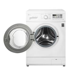 Lave-linge LG FH4B8TDA7 - Machine à laver - pose libre - largeur : 60 cm - profondeur : 58 cm - hauteur : 85 cm - chargement frontal - 58 litres - 8 kg - 1400 tours/min
