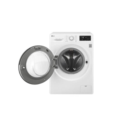 Lave-linge LG FH4U2VCN2 - Machine à laver - pose libre - largeur : 60 cm - profondeur : 56 cm - hauteur : 85 cm - chargement frontal - 59 litres - 9 kg - 1400 tours/min