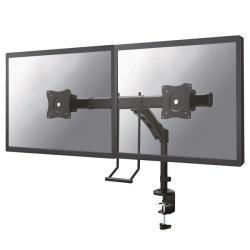 Full motion dual desk mount (clamp & grommet) for
