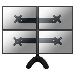"""Support pour LCD NewStar Tilt/Turn/Rotate Quad Desk Stand FPMA-D700DD4 - Kit de montage (montage par passe-câble, support de bureau) pour 4 écrans LCD - noir - Taille d'écran : 19""""-27"""""""
