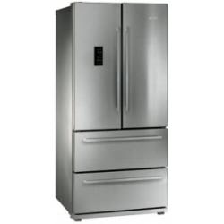 Réfrigérateur Smeg High Tech FQ55FXE - Réfrigérateur/congélateur - pose libre - largeur : 84 cm - profondeur : 74.5 cm - hauteur : 182.5 cm - 550 litres - style français - classe A+ - inox