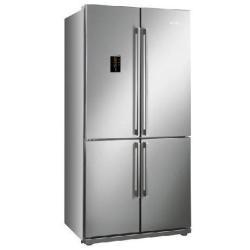 Réfrigérateur Smeg FQ60XPE - Réfrigérateur/congélateur - pose libre - largeur : 92 cm - profondeur : 76.5 cm - hauteur : 182 cm - 463 litres - Américain - classe A+ - inox