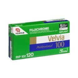 Fujifilm Fujichrome Velvia 100 Professional [RVP100] - Pellicule diapositive couleur - 120 (6 cm) - ISO 100 - 5 rouleaux