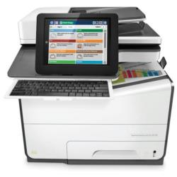 Imprimante  jet d'encre multifonction HP PageWide Enterprise Color Flow MFP 586z - Imprimante multifonctions - couleur - large �ventail de page - 216 x 356 mm (original) - A4/Legal (support) - jusqu'� 50 ppm (copie) - jusqu'� 50 ppm (impression) - 550 feuilles - 33.6 Kbits/s - USB 2.0, Gigabit LAN, h�te USB 2.0, h�te USB 2.0 (interne)
