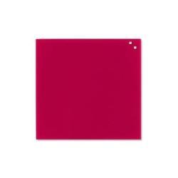 Tableau MOLHO LEONE - Tableau blanc - montable au mur - 450 x 450 mm - verre - magnétique - rouge