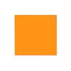 Tableau MOLHO LEONE - Tableau blanc - montable au mur - 450 x 450 mm - verre - magnétique - orange