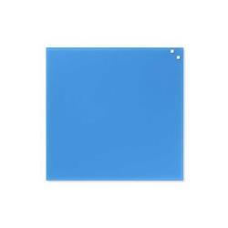 Tableau MOLHO LEONE - Tableau blanc - montable au mur - 450 x 450 mm - verre - magnétique - bleu cobalt