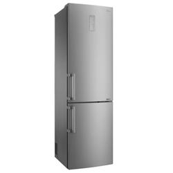 Réfrigérateur LG GBB60SAYFE - Réfrigérateur/congélateur - pose libre - largeur : 59.5 cm - profondeur : 68.6 cm - hauteur : 201 cm - 343 litres - congélateur bas - Classe A+++ - acier inoxydable Saffiano