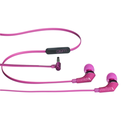 Celly GLFB01 - �couteurs avec micro - intra-auriculaire - 3.5 mm plug - Fuchsia