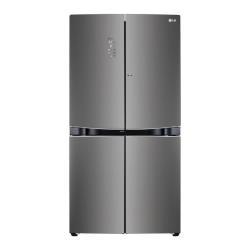 Réfrigérateur LG GMD916SBHZ - Réfrigérateur/congélateur - pose libre - largeur : 91.2 cm - profondeur : 75.8 cm - hauteur : 179.7 cm - 601 litres - côte à côte avec Distributeur d'eau et de glaçons - Classe A++ - graphite inox