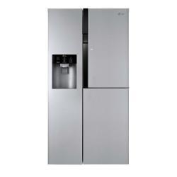 Réfrigérateur LG GS9366PZYZD - Réfrigérateur/congélateur - pose libre - largeur : 91.2 cm - profondeur : 71.2 cm - hauteur : 179 cm - 614 litres - Américain avec Distributeur d'eau et de glaçons - Classe A++ - inox supérieur