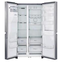 Réfrigérateur LG GSJ960PZBZ - Réfrigérateur/congélateur - pose libre - largeur : 91.2 cm - profondeur : 73.8 cm - hauteur : 179 cm - 601 litres - Américain avec Distributeur d'eau et de glaçons - Classe A++ - inox supérieur