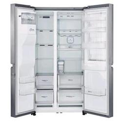 Réfrigérateur LG GSJ961NSBZ - Réfrigérateur/congélateur - pose libre - largeur : 91.2 cm - profondeur : 72.7 cm - hauteur : 178.5 cm - 601 litres - Américain avec Distributeur d'eau et de glaçons - Classe A++ - graphite inox