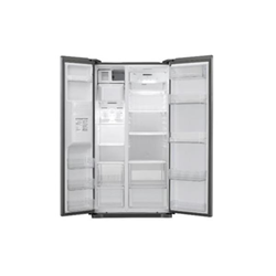 Réfrigérateur LG GSL325PZCV - Réfrigérateur/congélateur - pose libre - largeur : 89.4 cm - profondeur : 73.1 cm - hauteur : 175.3 cm - 508 litres - Américain avec Distributeur d'eau et de glaçons - classe A+ - Acier