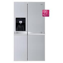 Réfrigérateur LG GSL545NSYZ - Réfrigérateur/congélateur - pose libre - largeur : 89.4 cm - profondeur : 72.3 cm - hauteur : 175.6 cm - 540 litres - Américain avec Distributeur d'eau et de glaçons - Classe A++ - acier premium