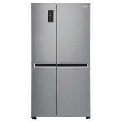 Réfrigérateur LG GSL761PZUZ - Réfrigérateur/congélateur - pose libre - largeur : 91.2 cm - profondeur : 73.8 cm - hauteur : 179 cm - 601 litres - côte-à-côte avec Distributeur d'eau et de glaçons - Classe A++ - inox supérieur