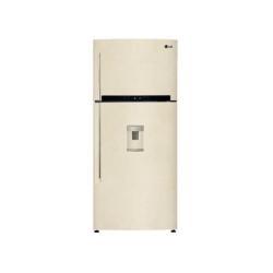 Réfrigérateur LG GTF744SEPM - Réfrigérateur/congélateur - pose libre - largeur : 78 cm - profondeur : 73 cm - hauteur : 180 cm - 511 litres - congélateur haut avec distributeur d'eau - Classe A++ - sable