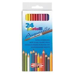 Crayon KOH-I-NOOR HARDTMUTH - Pinceau à aquarelle - couleurs assorties - 3.8 mm - pack de 24