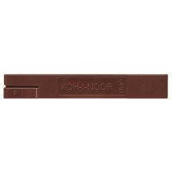 Porte mines KOH-I-NOOR DUO - Mine de crayon - graphite - 2B - noir - 2.5 mm - pack de 2
