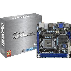 Carte mère ASRock H61M-ITX - Carte-mère - mini ITX - Port LGA1155 - H61 - USB 3.0 - Gigabit LAN - carte graphique embarquée (unité centrale requise) - audio HD (8 canaux)