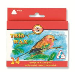 Crayon KOH-I-NOOR TRIO WAX - Crayon - cire - couleurs assorties - pack de 24