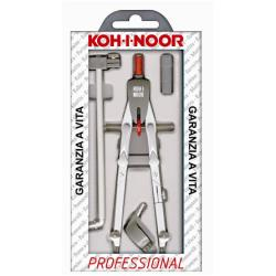 KOH-I-NOOR PROFESSIONAL - Compas avec accessoires